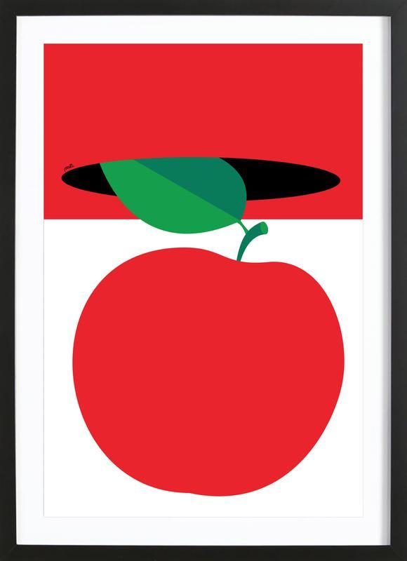 Apple 3 -Bild mit Holzrahmen