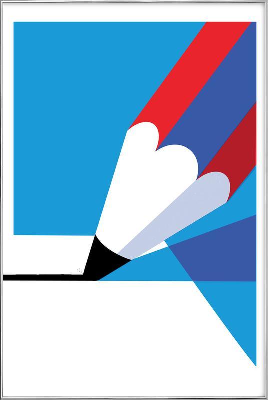 Pencil -Poster im Alurahmen