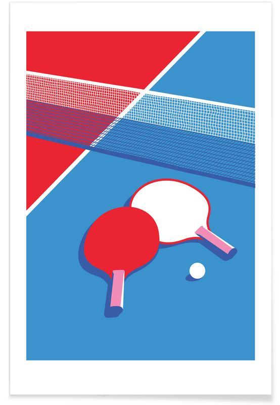 Retro, Ping Pong Poster