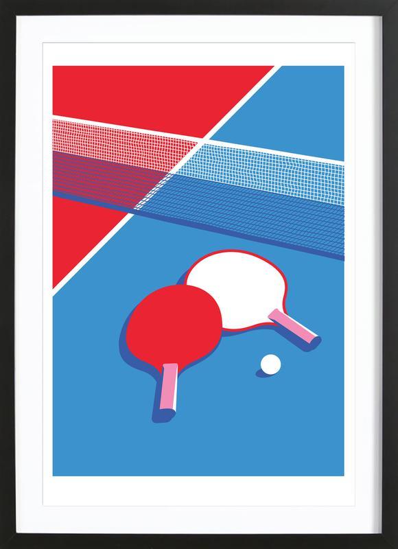 Ping Pong ingelijste print