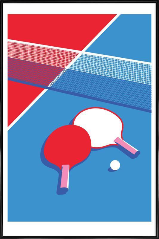 Ping Pong ingelijste poster