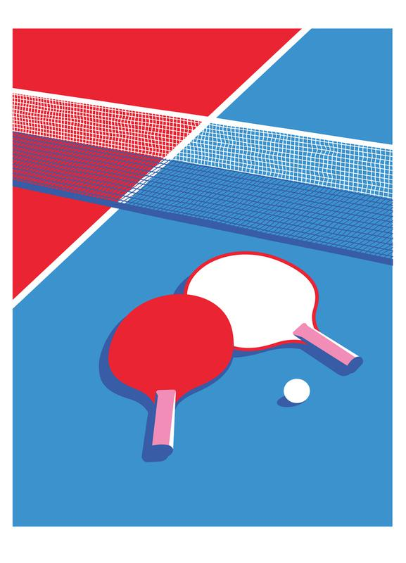 Ping Pong canvas doek