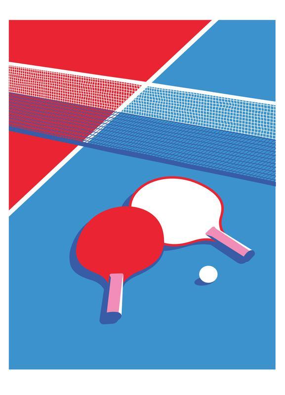 Ping Pong -Leinwandbild