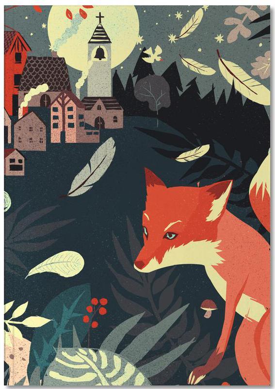 Vossen, Kunst voor kinderen, Fox And The Village Notebook