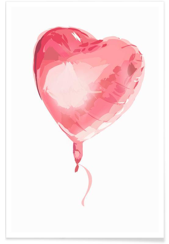Hearts, Anniversaries & Love, Weddings, Heart Balloon Poster