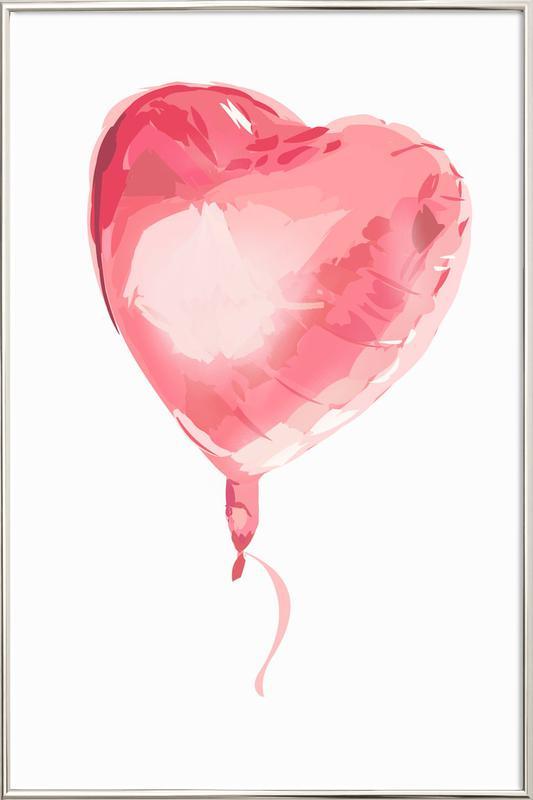 Heart Balloon affiche sous cadre en aluminium