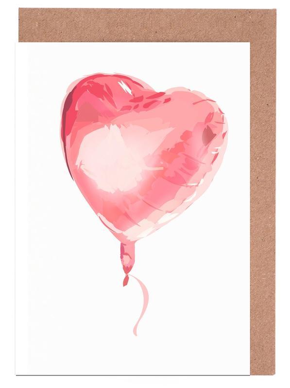 Liebe & Jahrestage, Hochzeiten, Herzen, Heart Balloon -Grußkarten-Set