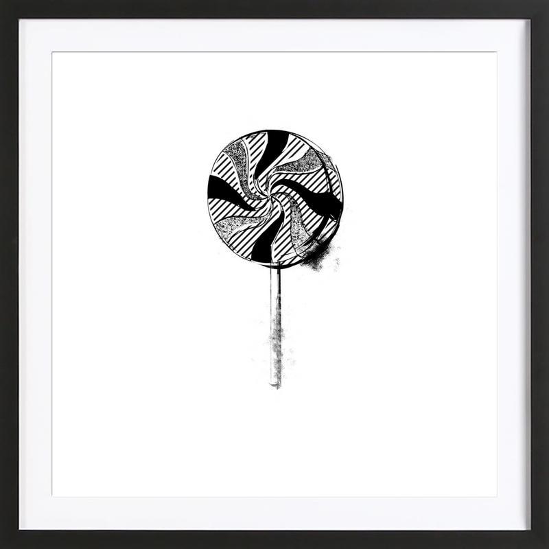 Lollipop affiche sous cadre en bois