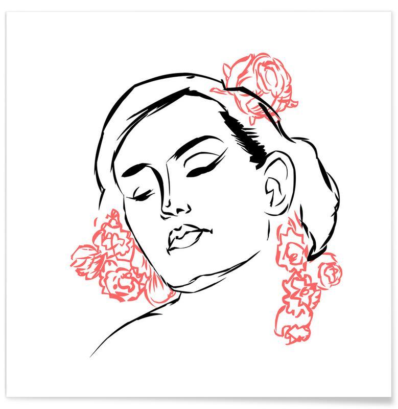 Rosen, Porträts, Belle de jour -Poster
