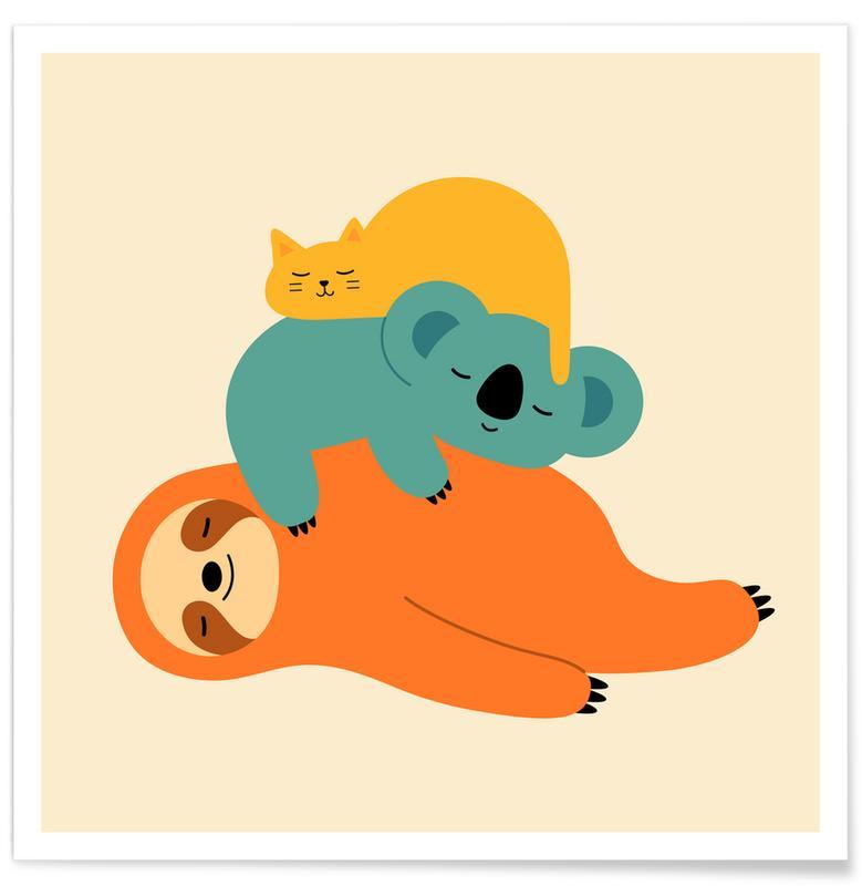 Kinderzimmer & Kunst für Kinder, Being Lazy -Poster