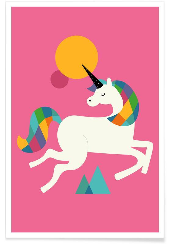 Art pour enfants, Licornes, To Be A Unicorn affiche