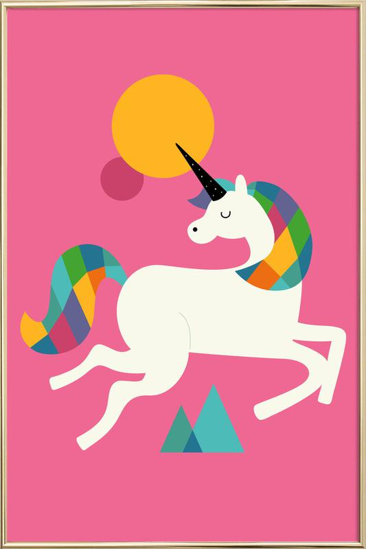 To Be A Unicorn Poster in Aluminium Frame