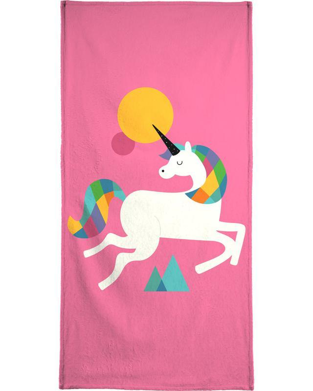 To Be A Unicorn Beach Towel