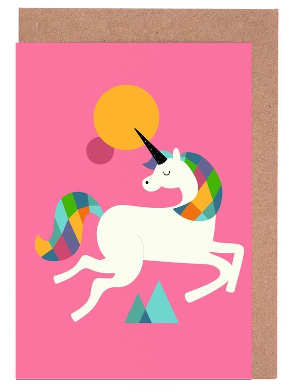 To Be A Unicorn -Grußkarten-Set