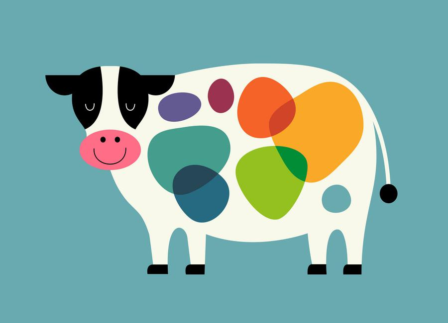 Awesome Cow -Leinwandbild