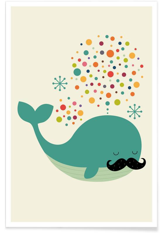 Art pour enfants, Baleines, Firewhale affiche