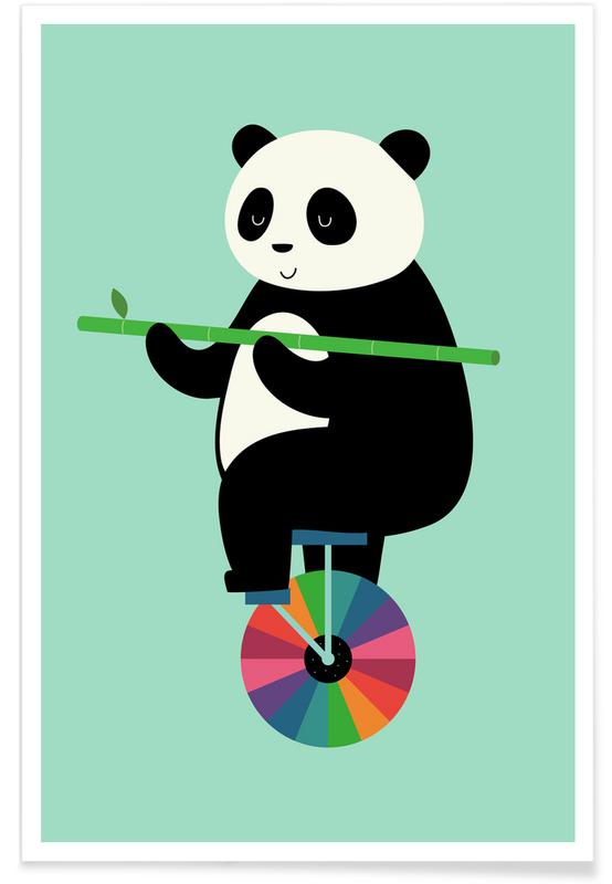 Kinderzimmer & Kunst für Kinder, Pandas, Learn To Balance Your Life -Poster