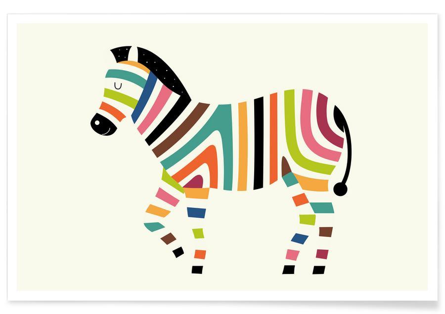 Kunst voor kinderen, Zebra's, Magic Code poster
