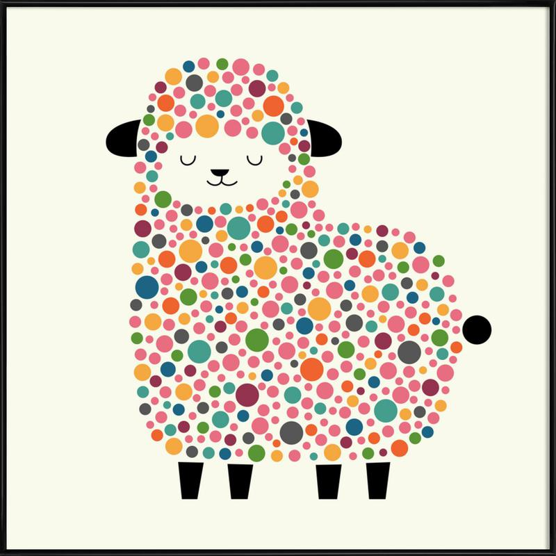 Bubble Sheep Framed Poster
