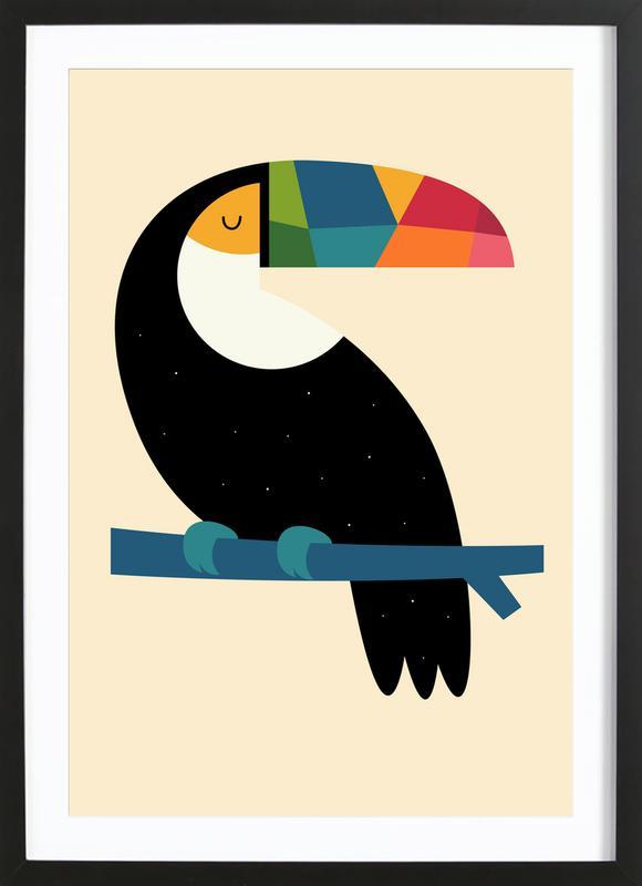 Rainbow Toucan ingelijste print