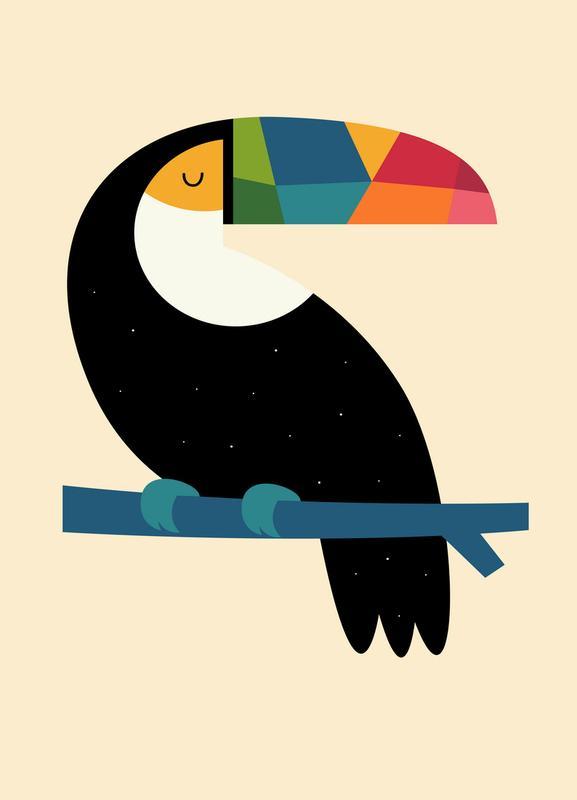 Rainbow Toucan canvas doek