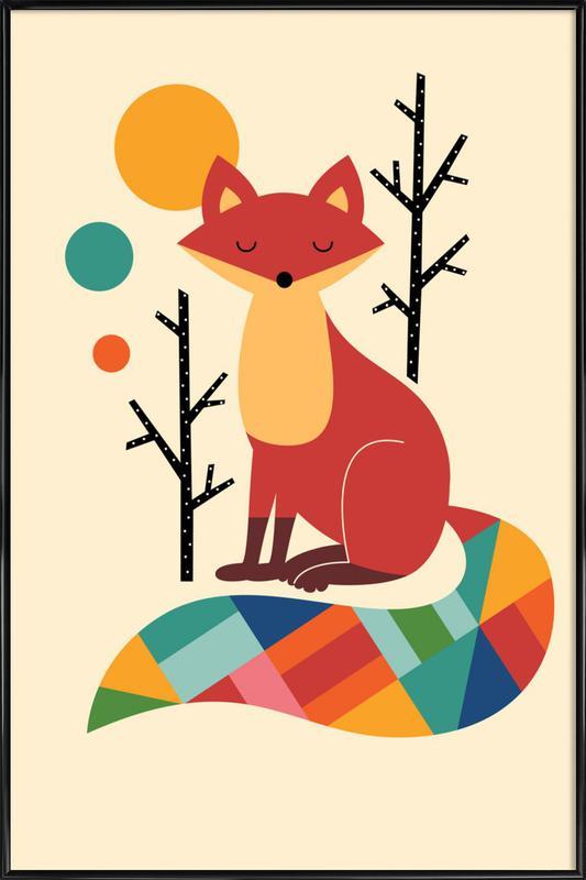 Rainbow Fox Poster i standardram