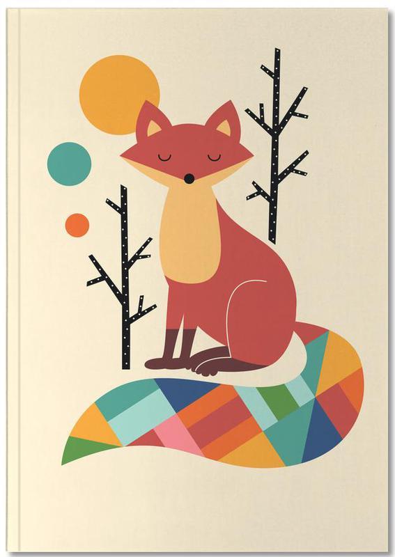 Foxes, Nursery & Art for Kids, Rainbow Fox Notebook