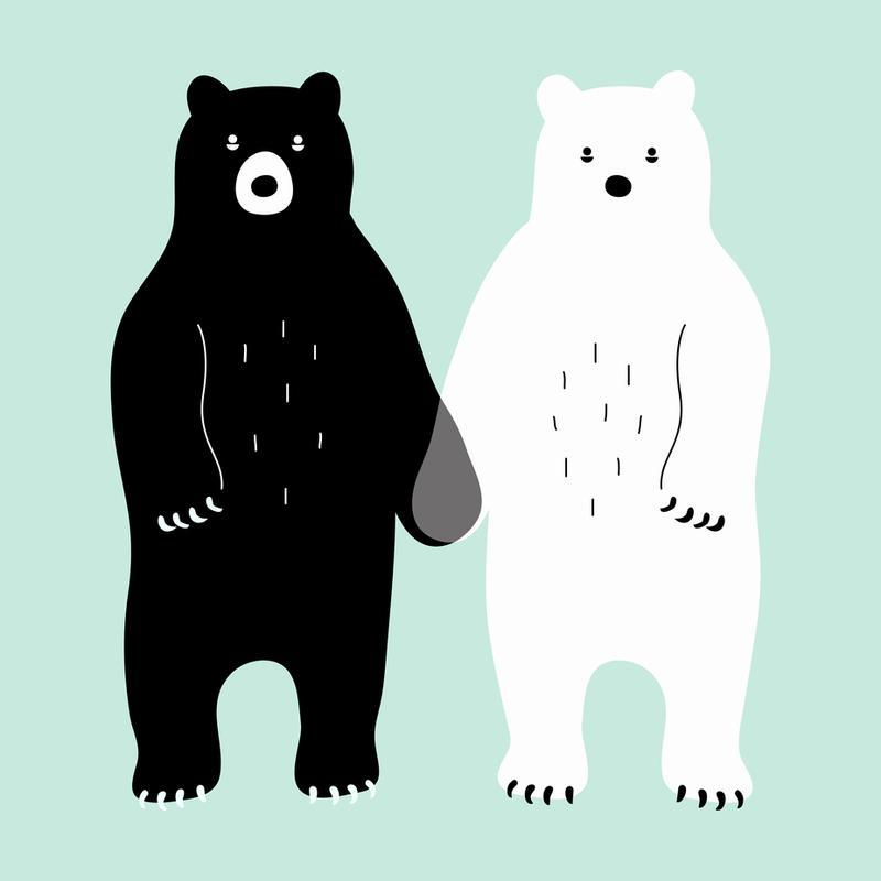 Two Bears alu dibond