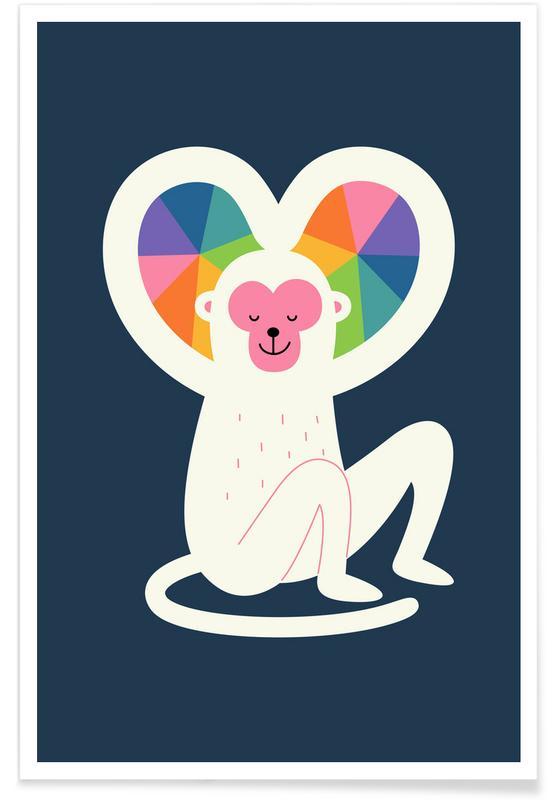 Hearts, Anniversaries & Love, Monkeys, Heart Poster