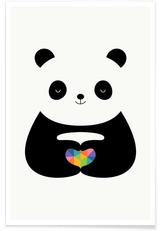 Cœurs, Anniversaires de mariage et amour, Pandas, Panda Love affiche