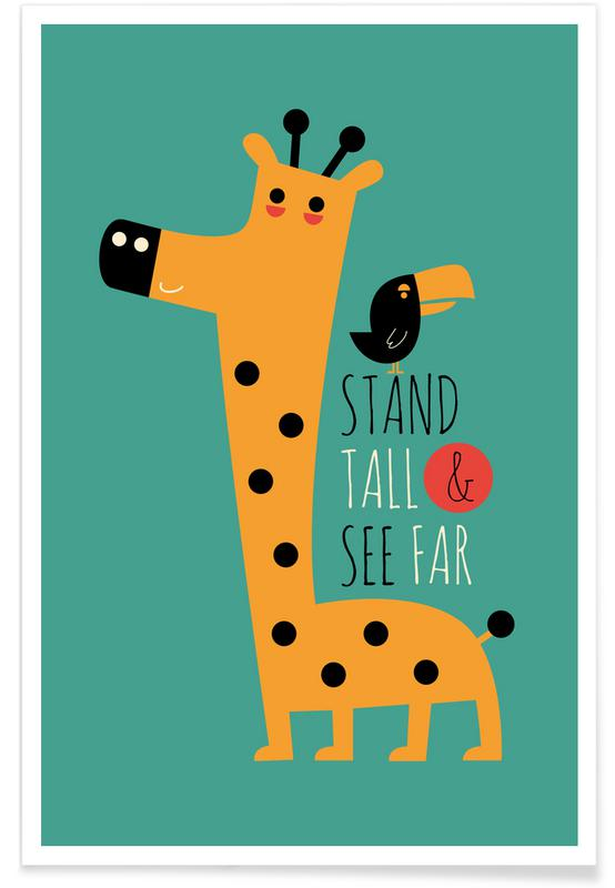 Girafes, Motivation, Stand Tall and See Far affiche