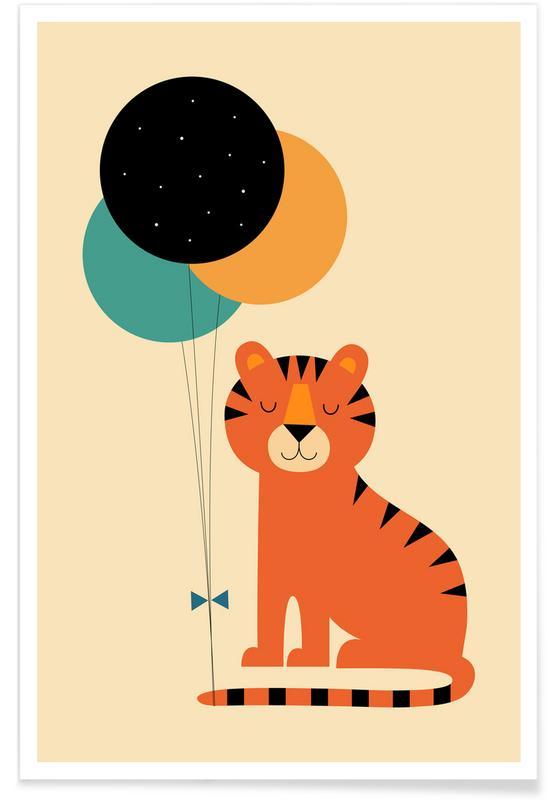 Födelsedagar, Barnkammar & konst för barn, Time To Celebrate Poster