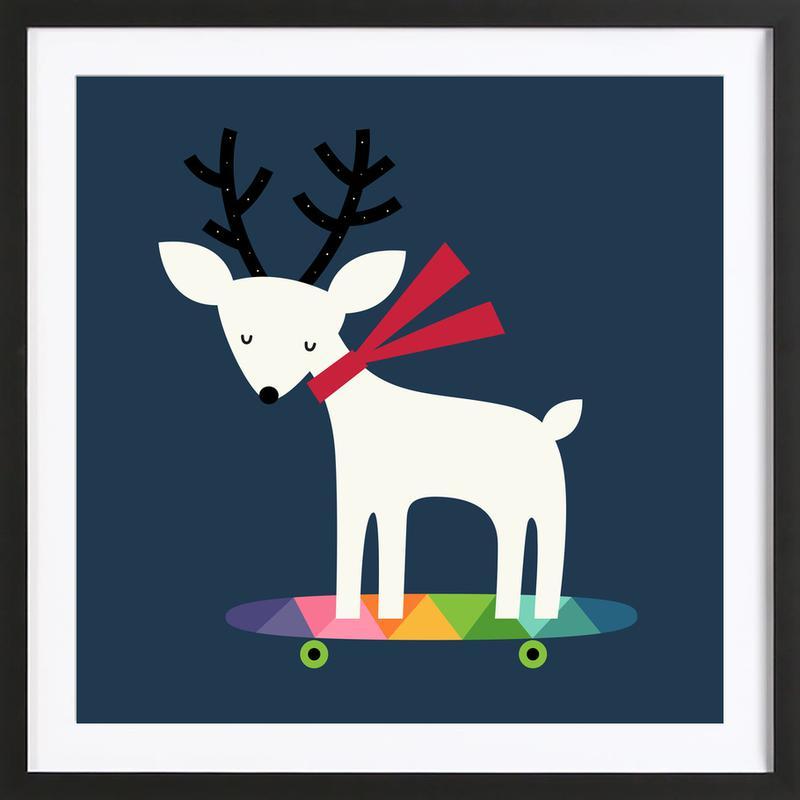 Xmas Skater Framed Print