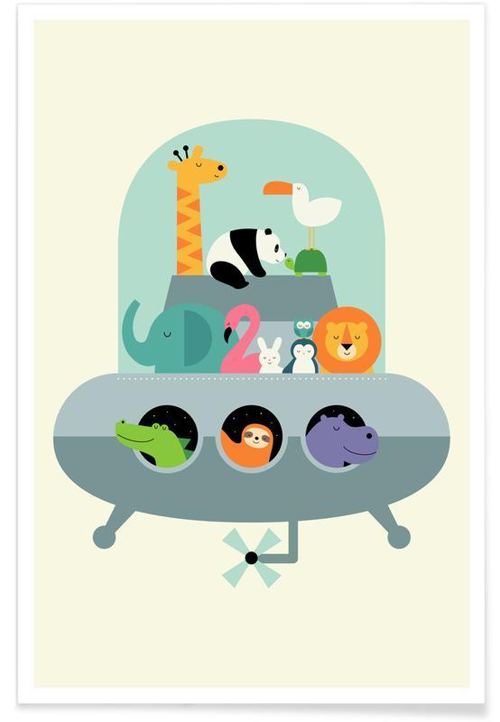 Kinderzimmer & Kunst für Kinder, Expedition -Poster
