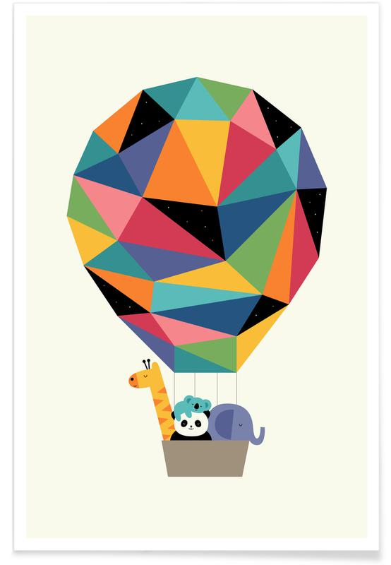 Børneværelse & kunst for børn, Fly High Together Plakat