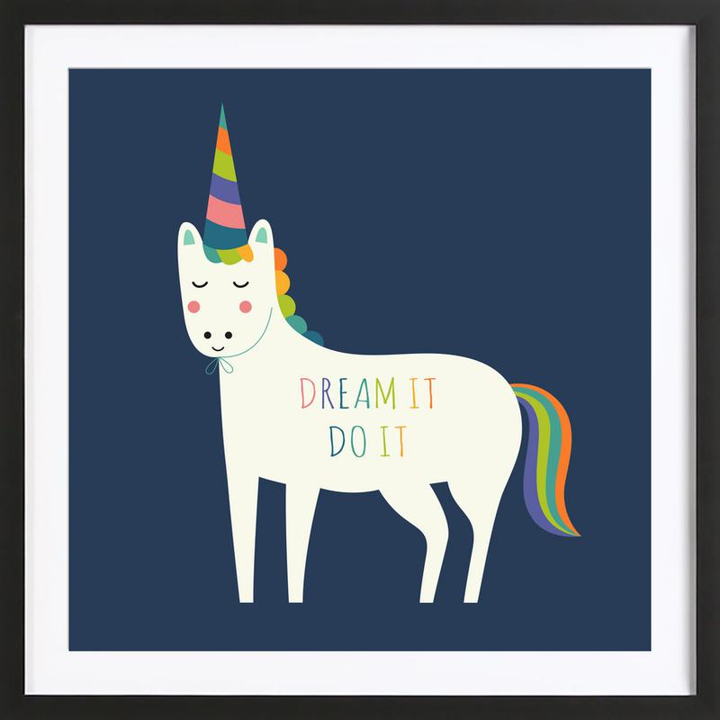 Dream It Do It -Bild mit Holzrahmen