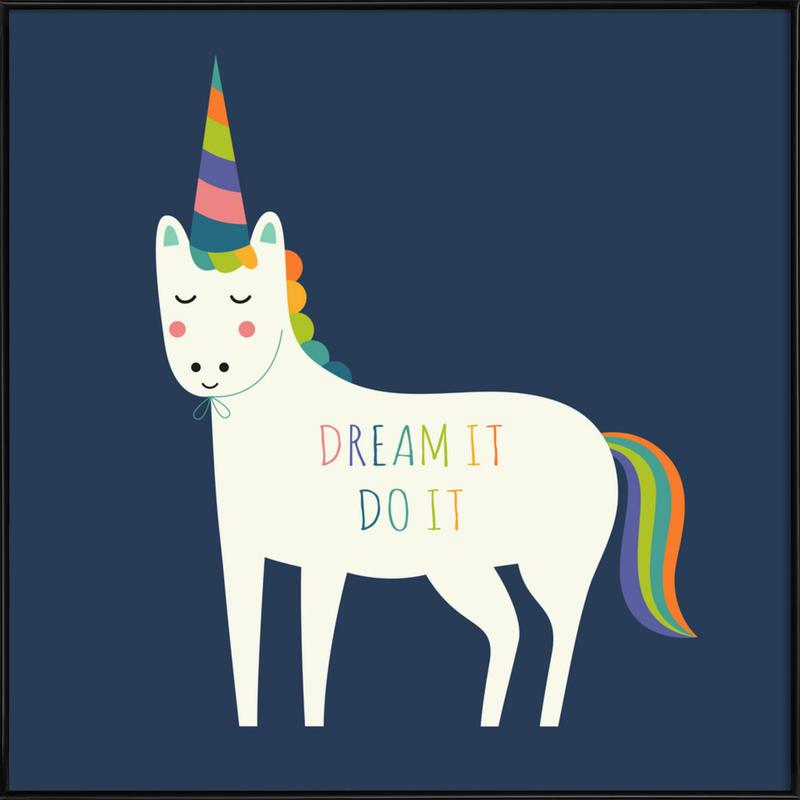 Dream It Do It -Bild mit Kunststoffrahmen