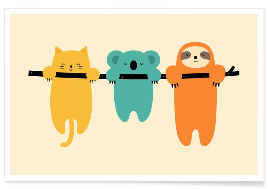 Børneværelse & kunst for børn, Hang in There Plakat