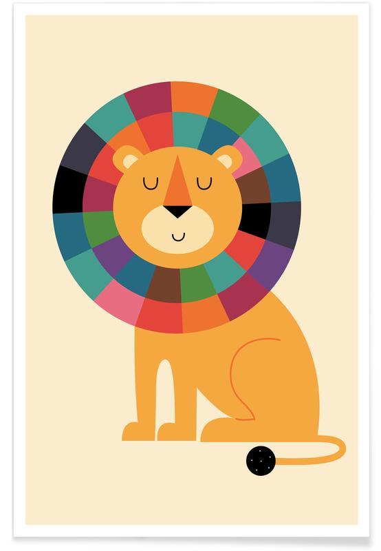 Art pour enfants, Lions, Mr Confidence affiche