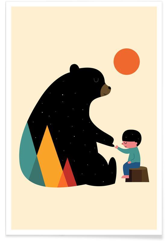 Bjørne, Børneværelse & kunst for børn, Promise Plakat