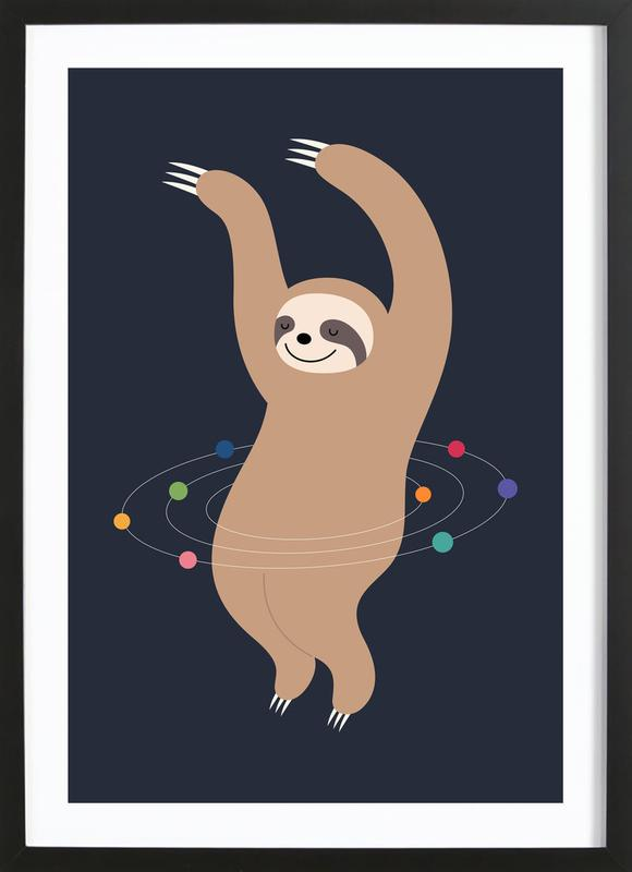 Sloth Galaxy Framed Print