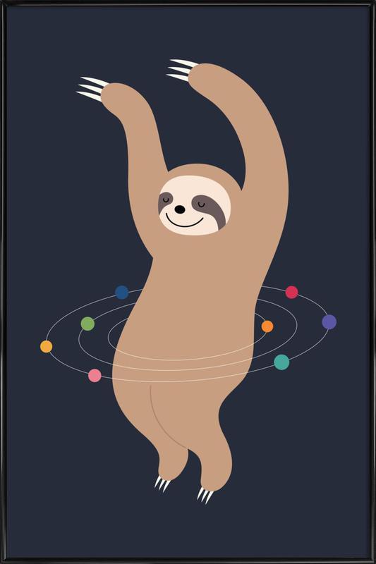 Sloth Galaxy Framed Poster