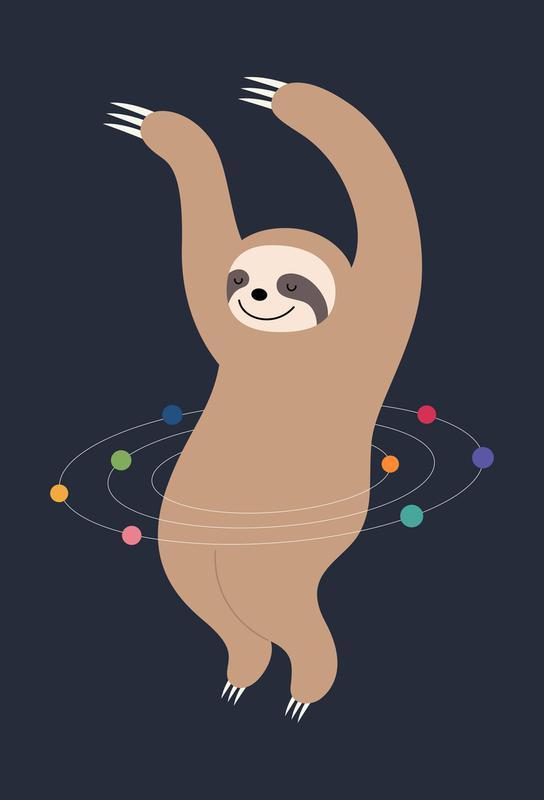 Sloth Galaxy Acrylic Print