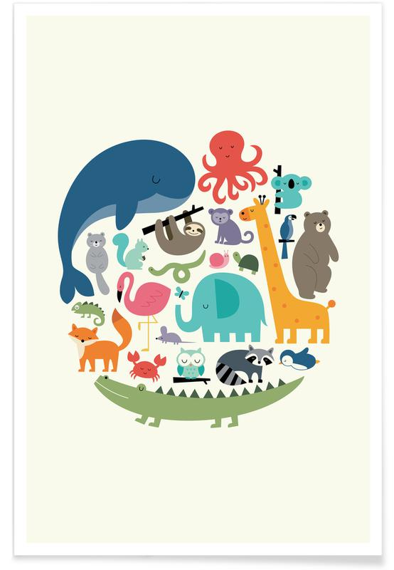 Børneværelse & kunst for børn, We Are One Plakat