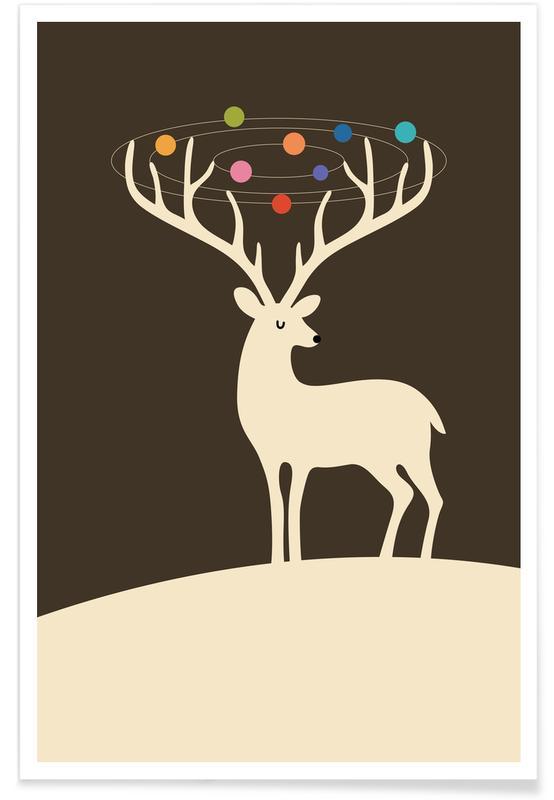 Nursery & Art for Kids, Christmas, Deer, My Deer Universe Poster