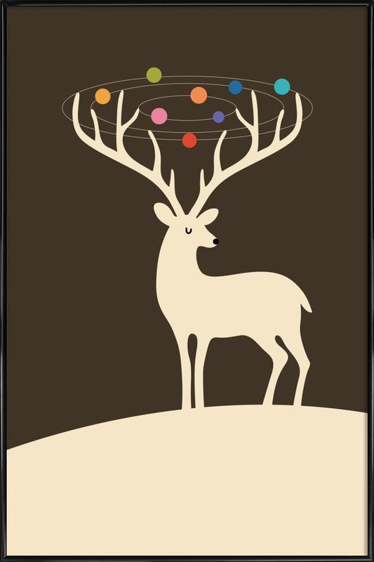 My Deer Universe -Bild mit Kunststoffrahmen