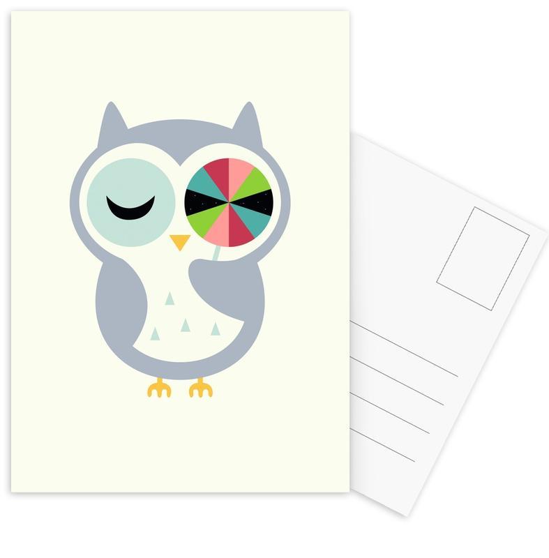 Chouettes, Art pour enfants, Sweet Wishes cartes postales