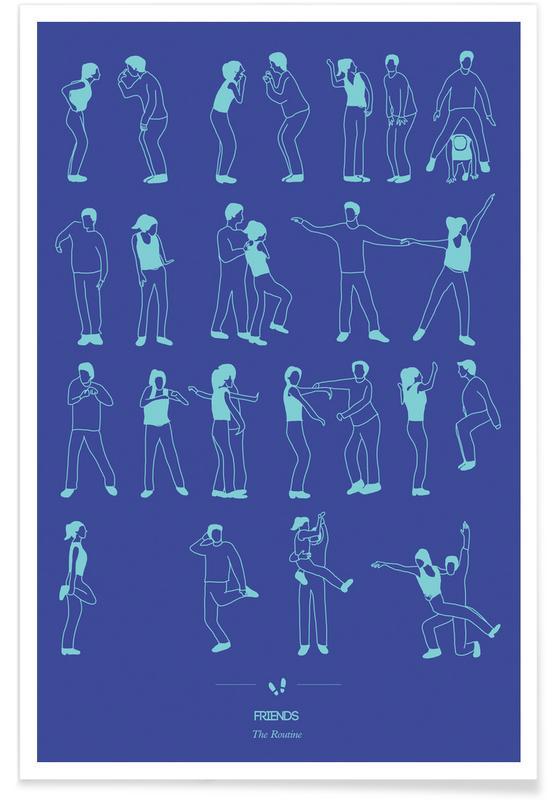 TV Shows, Friends Dance Poster