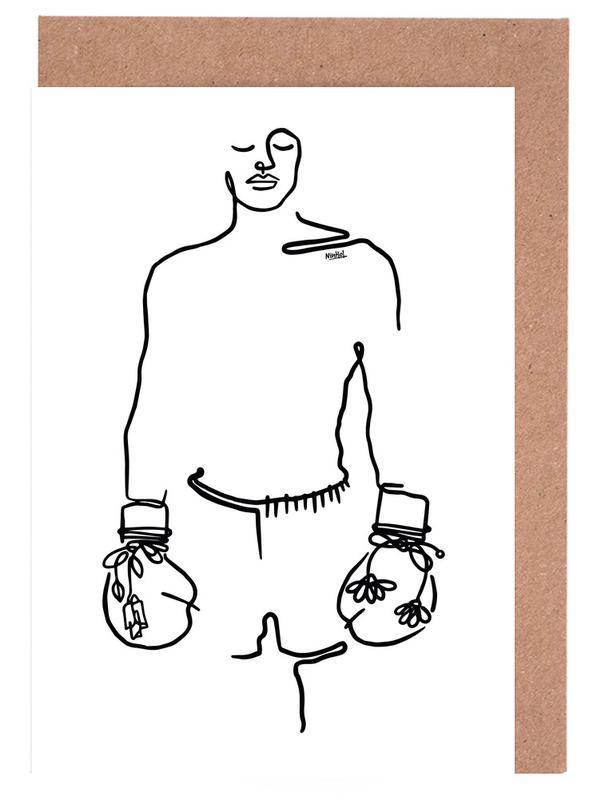 Noir & blanc, Mohamed Ali, Love Fighter cartes de vœux