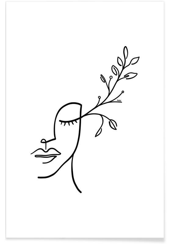 Eyelashes Bloom Poster